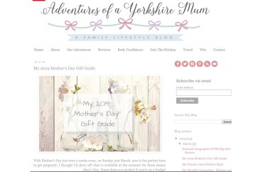 Adventures of a Yorkshire Mum - March 2019